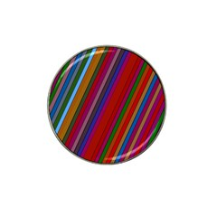Color Stripes Pattern Hat Clip Ball Marker by Simbadda