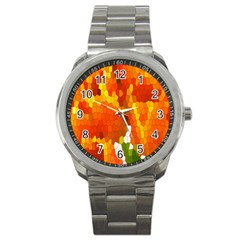 Mosaic Glass Colorful Color Sport Metal Watch by Simbadda