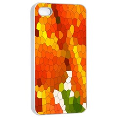 Mosaic Glass Colorful Color Apple Iphone 4/4s Seamless Case (white) by Simbadda