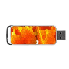 Mosaic Glass Colorful Color Portable Usb Flash (two Sides) by Simbadda