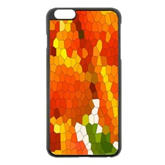 Mosaic Glass Colorful Color Apple Iphone 6 Plus/6s Plus Black Enamel Case by Simbadda