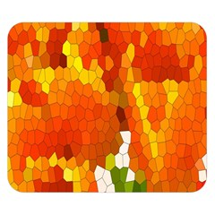 Mosaic Glass Colorful Color Double Sided Flano Blanket (small)  by Simbadda