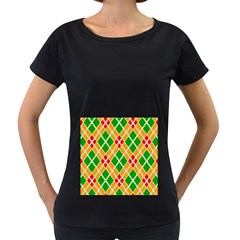 Colorful Color Pattern Diamonds Women s Loose Fit T Shirt (black) by Simbadda