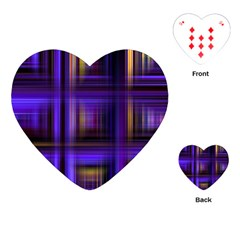 Background Texture Pattern Color Playing Cards (heart)  by Simbadda