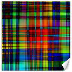 Abstract Color Background Form Canvas 16  X 16   by Simbadda