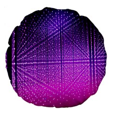 Pattern Light Color Structure Large 18  Premium Flano Round Cushions by Simbadda