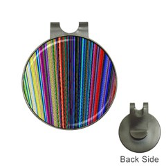Multi Colored Lines Hat Clips With Golf Markers by Simbadda