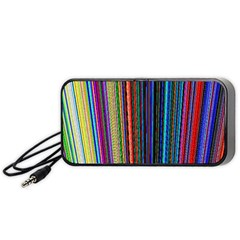 Multi Colored Lines Portable Speaker (black) by Simbadda