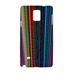 Multi Colored Lines Samsung Galaxy Note 4 Hardshell Case by Simbadda