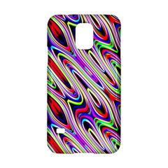 Multi Color Wave Abstract Pattern Samsung Galaxy S5 Hardshell Case  by Simbadda