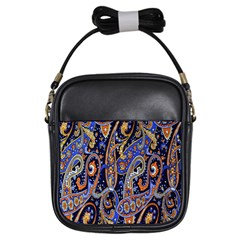 Pattern Color Design Texture Girls Sling Bags by Simbadda