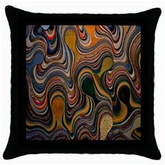 Swirl Colour Design Color Texture Throw Pillow Case (black) by Simbadda