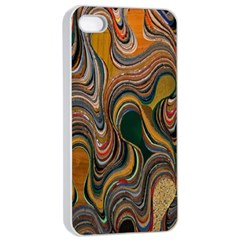 Swirl Colour Design Color Texture Apple Iphone 4/4s Seamless Case (white) by Simbadda