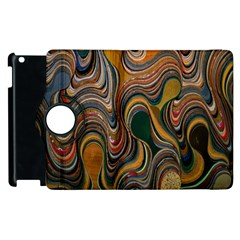 Swirl Colour Design Color Texture Apple Ipad 2 Flip 360 Case by Simbadda