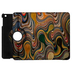 Swirl Colour Design Color Texture Apple iPad Mini Flip 360 Case by Simbadda