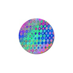 Background Texture Pattern Colorful Golf Ball Marker (4 Pack) by Simbadda