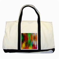 Color Abstract Background Textures Two Tone Tote Bag by Simbadda