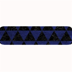 Triangle3 Black Marble & Blue Leather Large Bar Mat by trendistuff