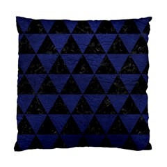 Triangle3 Black Marble & Blue Leather Standard Cushion Case (one Side) by trendistuff