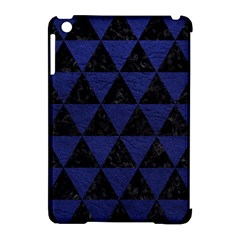 Triangle3 Black Marble & Blue Leather Apple Ipad Mini Hardshell Case (compatible With Smart Cover) by trendistuff