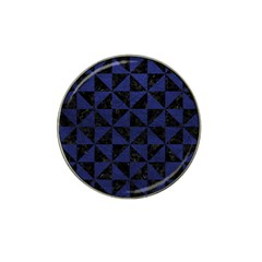 Triangle1 Black Marble & Blue Leather Hat Clip Ball Marker by trendistuff