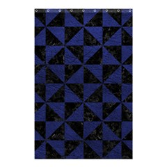 Triangle1 Black Marble & Blue Leather Shower Curtain 48  X 72  (small) by trendistuff