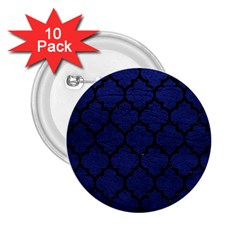 Tile1 Black Marble & Blue Leather (r) 2 25  Button (10 Pack) by trendistuff