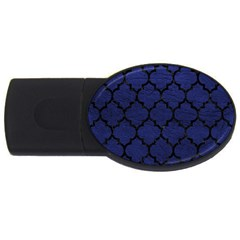 Tile1 Black Marble & Blue Leather (r) Usb Flash Drive Oval (4 Gb) by trendistuff