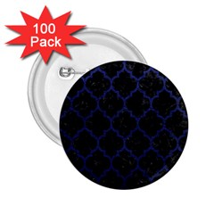 Tile1 Black Marble & Blue Leather 2 25  Button (100 Pack) by trendistuff