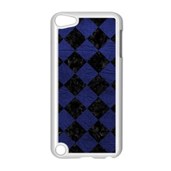 Square2 Black Marble & Blue Leather Apple Ipod Touch 5 Case (white) by trendistuff