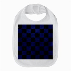 Square1 Black Marble & Blue Leather Bib by trendistuff