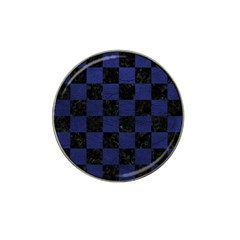 Square1 Black Marble & Blue Leather Hat Clip Ball Marker by trendistuff