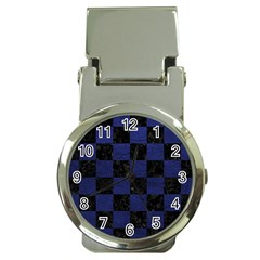 Square1 Black Marble & Blue Leather Money Clip Watch by trendistuff