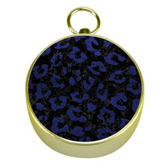 Skin5 Black Marble & Blue Leather (r) Gold Compass by trendistuff