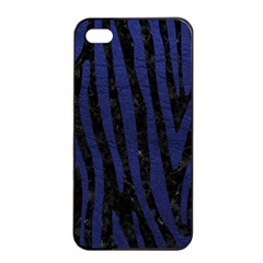 Skin4 Black Marble & Blue Leather (r) Apple Iphone 4/4s Seamless Case (black) by trendistuff