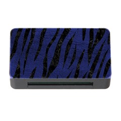 Skin3 Black Marble & Blue Leather (r) Memory Card Reader With Cf by trendistuff