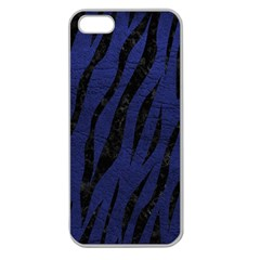 Skin3 Black Marble & Blue Leather (r) Apple Seamless Iphone 5 Case (clear) by trendistuff