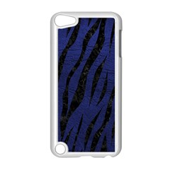 Skin3 Black Marble & Blue Leather (r) Apple Ipod Touch 5 Case (white) by trendistuff