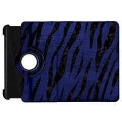 Skin3 Black Marble & Blue Leather (r) Kindle Fire Hd Flip 360 Case by trendistuff