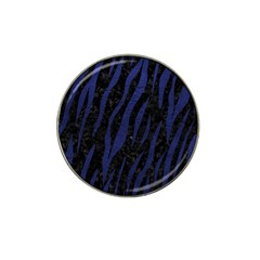 Skin3 Black Marble & Blue Leather Hat Clip Ball Marker (4 Pack) by trendistuff