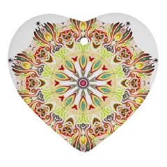 Intricate Flower Star Ornament (heart) by Alisyart