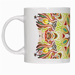 Intricate Flower Star White Mugs by Alisyart