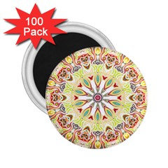 Intricate Flower Star 2 25  Magnets (100 Pack)  by Alisyart