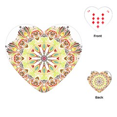 Intricate Flower Star Playing Cards (heart)  by Alisyart