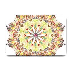 Intricate Flower Star Small Doormat  by Alisyart