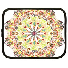 Intricate Flower Star Netbook Case (xxl)  by Alisyart