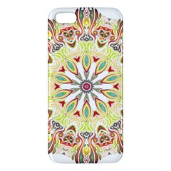 Intricate Flower Star Apple Iphone 5 Premium Hardshell Case by Alisyart