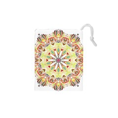 Intricate Flower Star Drawstring Pouches (xs)  by Alisyart
