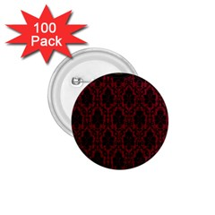 Elegant Black And Red Damask Antique Vintage Victorian Lace Style 1 75  Buttons (100 Pack)  by yoursparklingshop