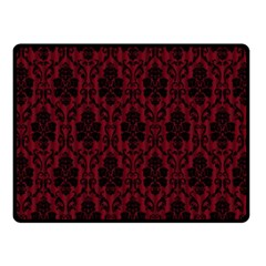 Elegant Black And Red Damask Antique Vintage Victorian Lace Style Fleece Blanket (small) by yoursparklingshop